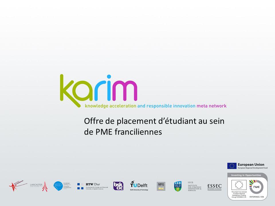 Offre de placement détudiant au sein de PME franciliennes
