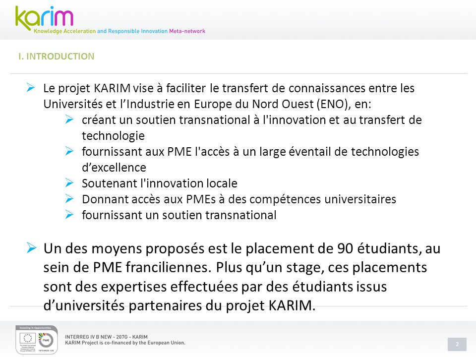 1 STAGES D ETUDIANTS I.Introduction II.Quels sont les avantages .