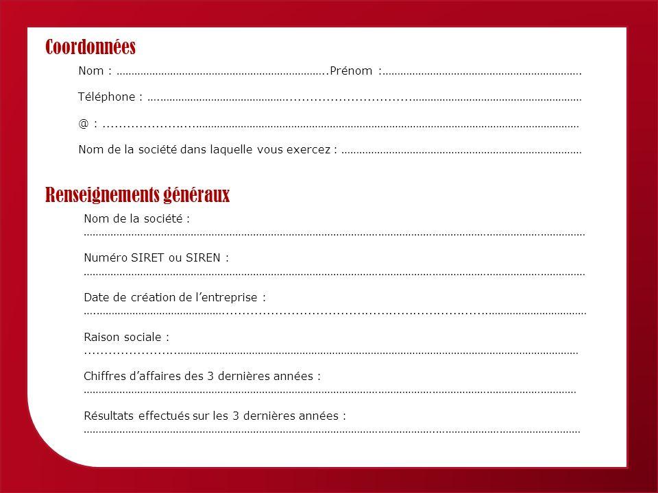 Femmes économiques de Provence Alpes Côte dAzur Coordonnées Nom : ……………………………………………………………..Prénom :………………………………………………………….