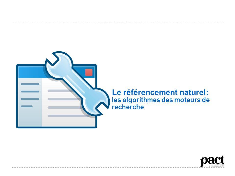 Le référencement naturel: les algorithmes des moteurs de recherche