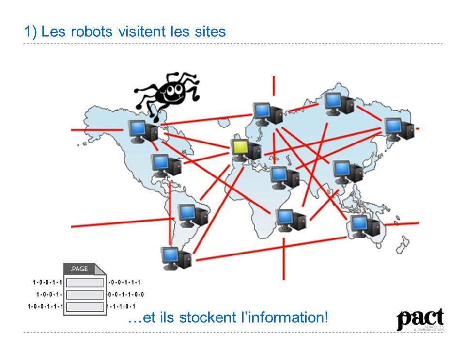 1) Les robots visitent les sites …et ils stockent linformation!