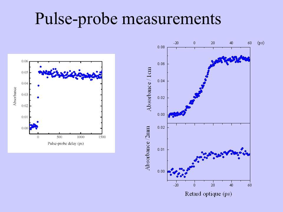 Pulse-probe measurements