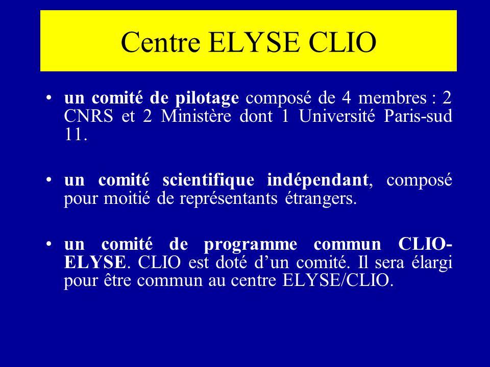un comité de pilotage composé de 4 membres : 2 CNRS et 2 Ministère dont 1 Université Paris-sud 11. un comité scientifique indépendant, composé pour mo