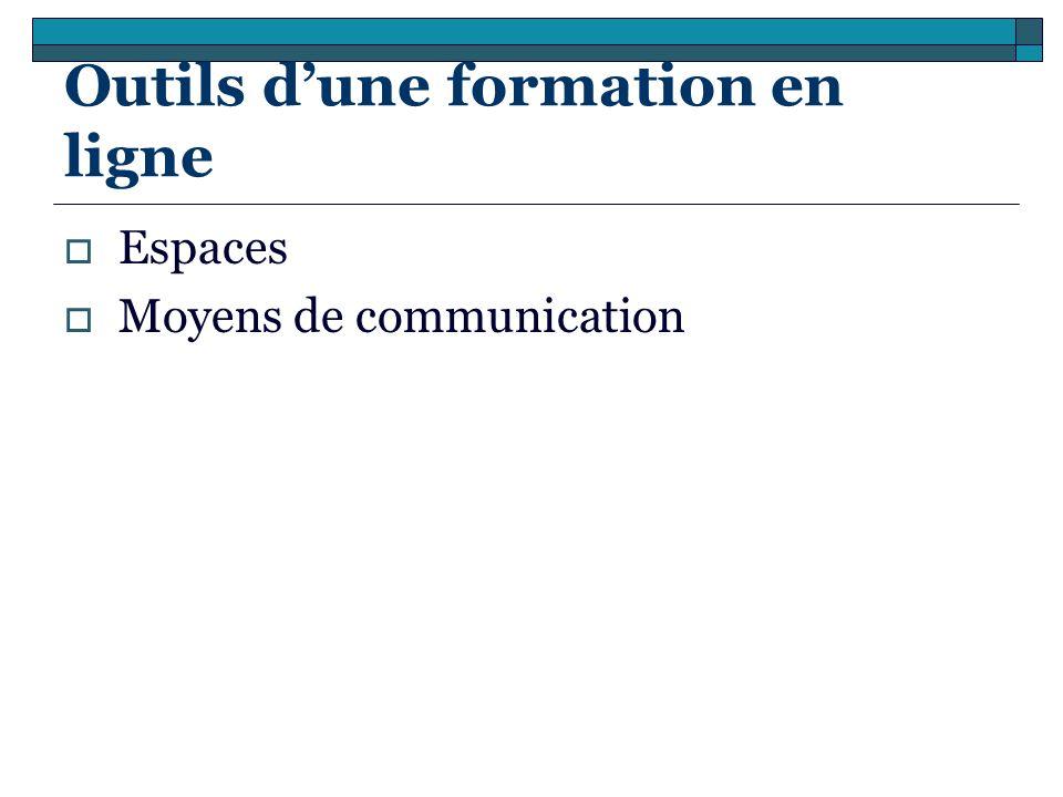 Outils dune formation en ligne Espaces Moyens de communication