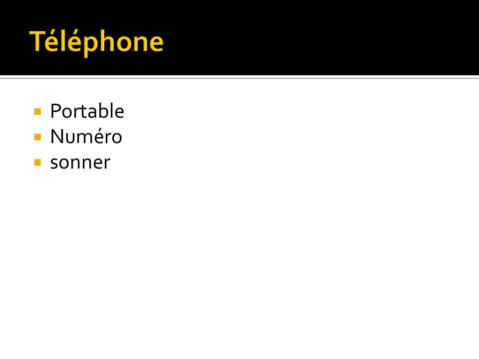 Portable Numéro sonner