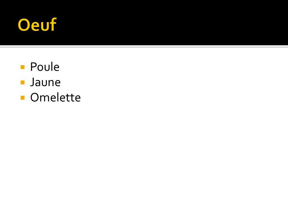Poule Jaune Omelette
