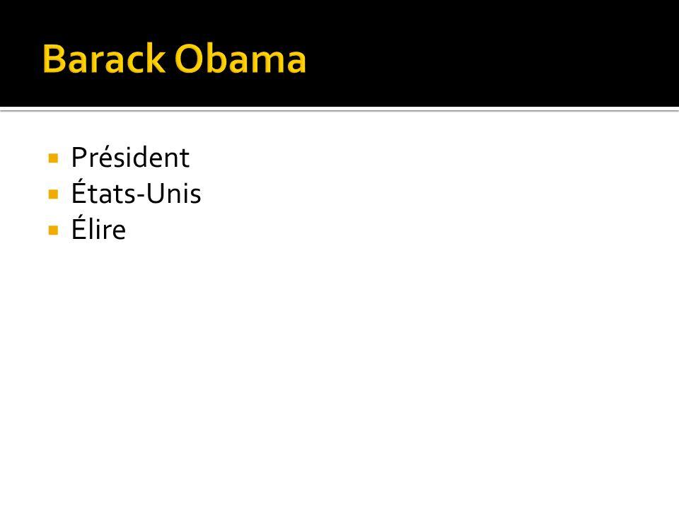 Président États-Unis Élire