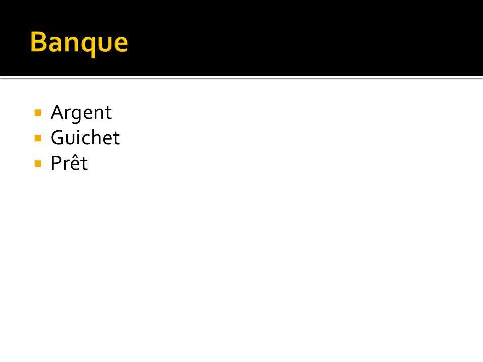 Argent Guichet Prêt