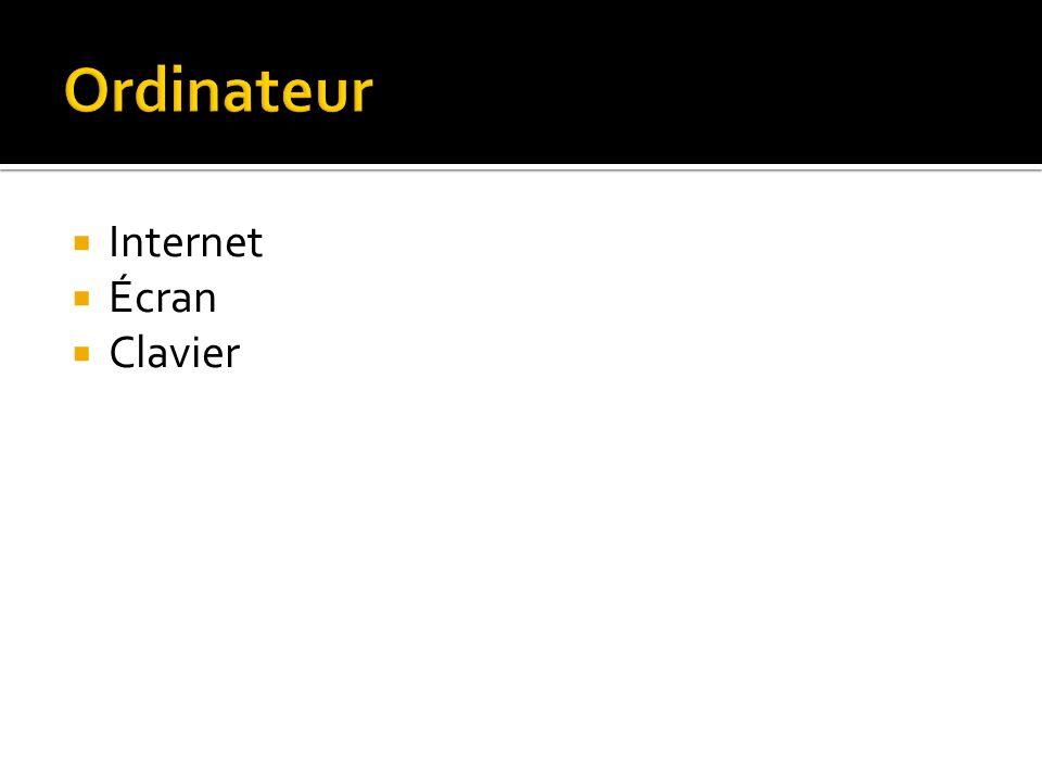 Internet Écran Clavier