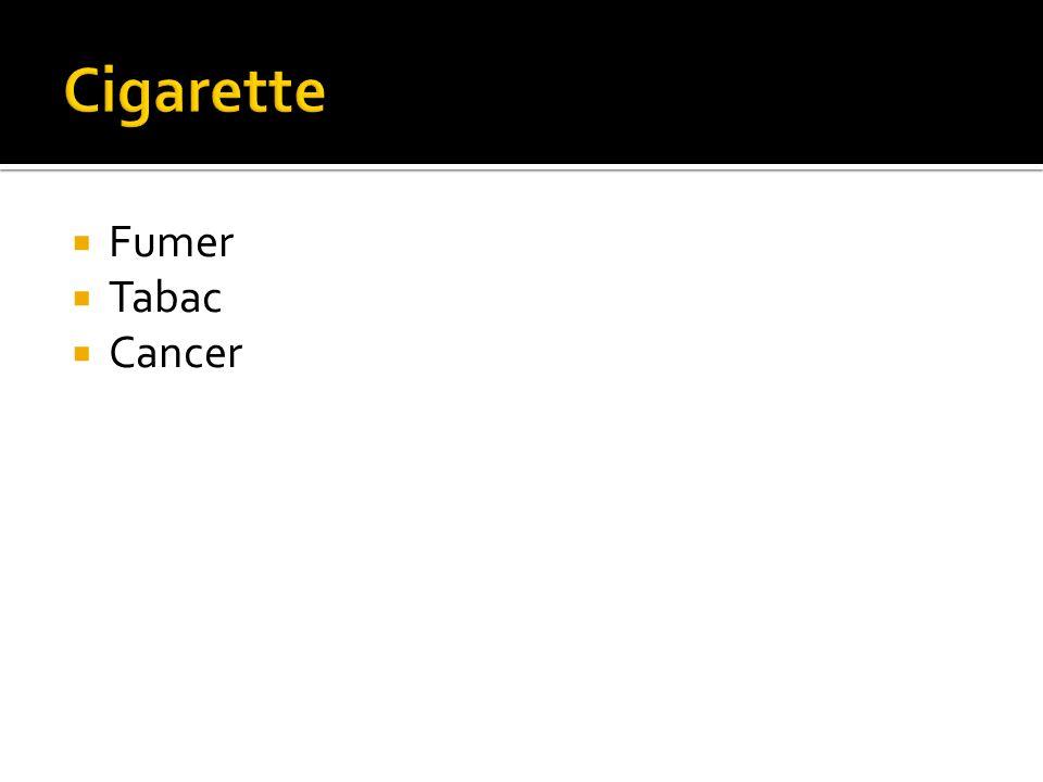 Fumer Tabac Cancer