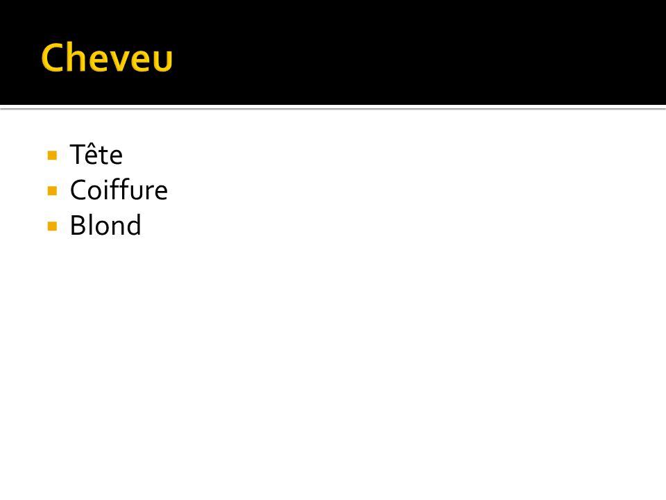 Tête Coiffure Blond