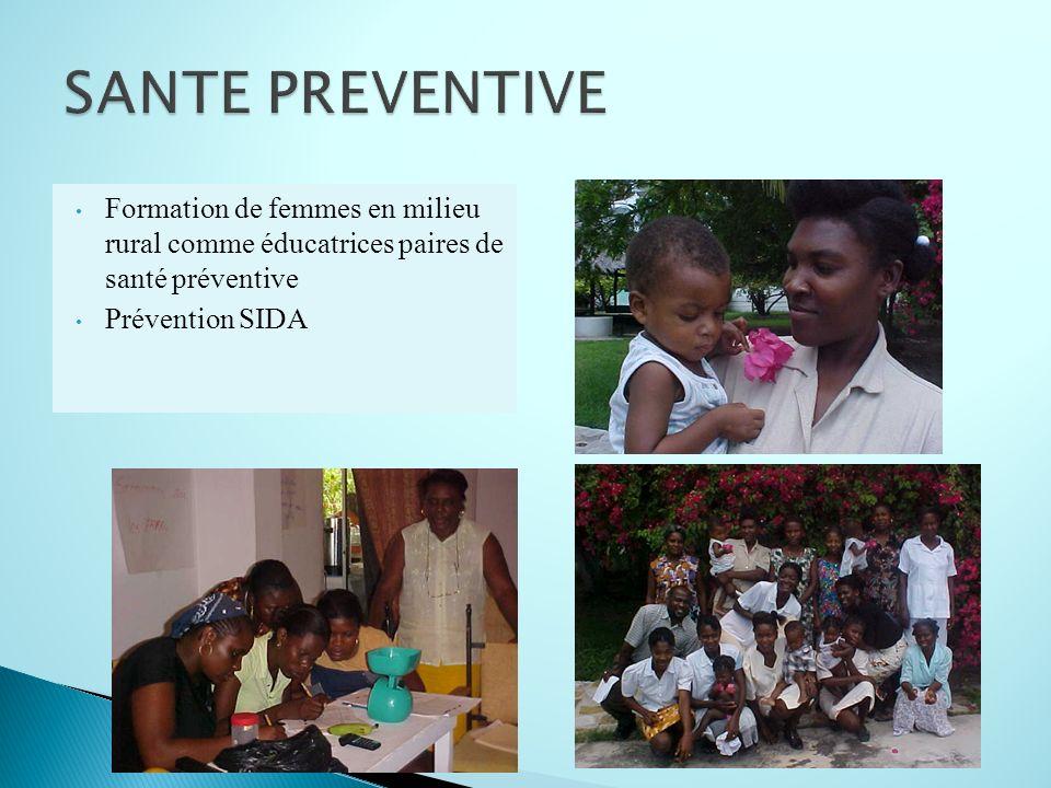 Formation de femmes en milieu rural comme éducatrices paires de santé préventive Prévention SIDA