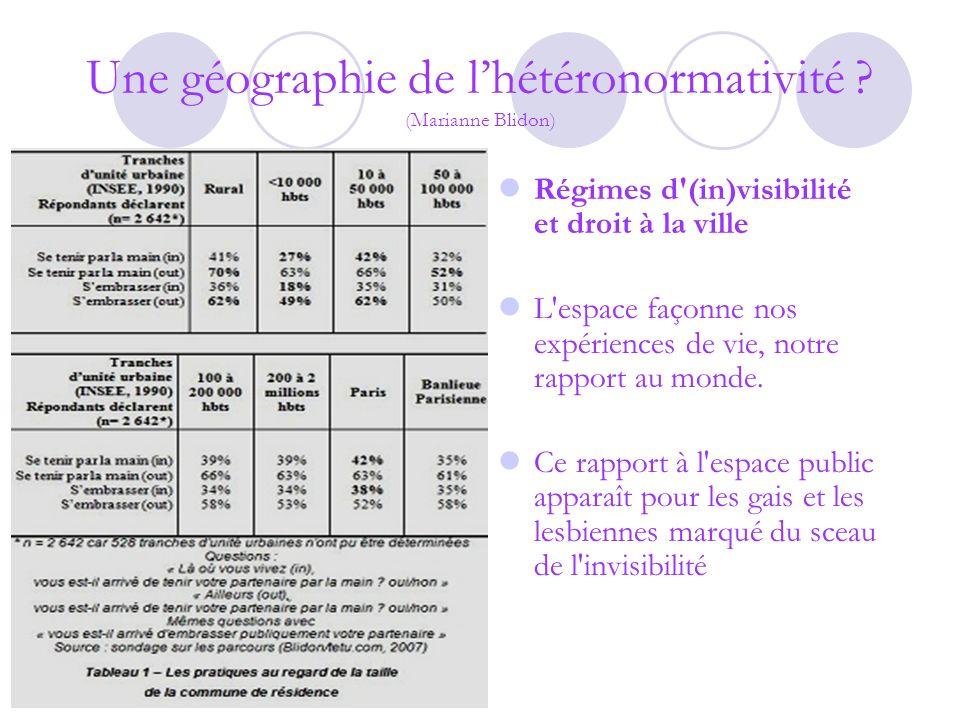 Une géographie de lhétéronormativité .