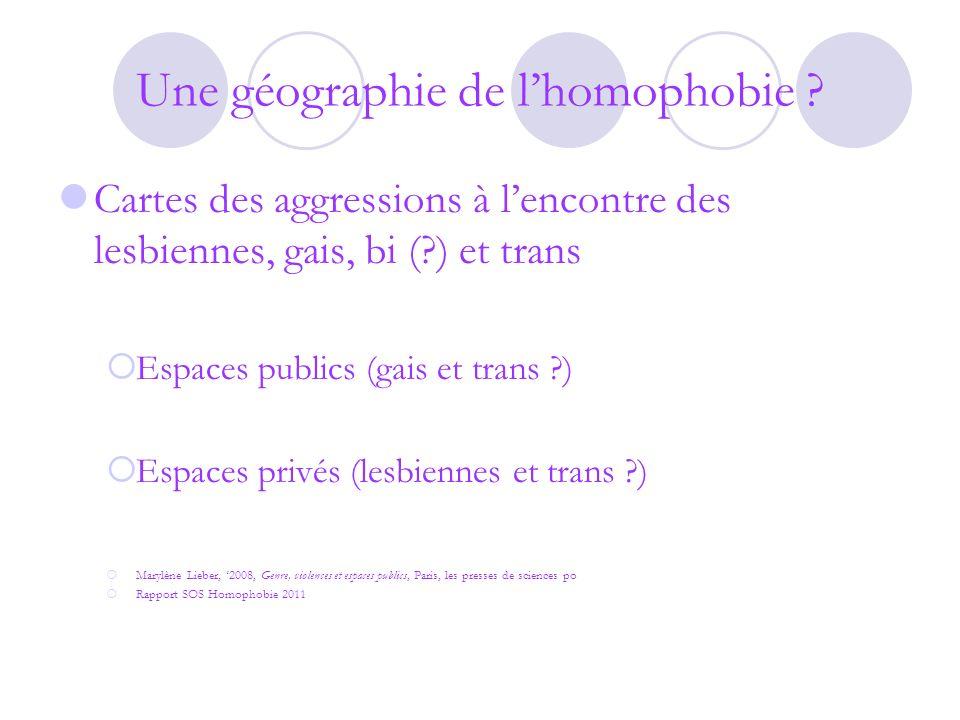 Une géographie de lhomophobie .