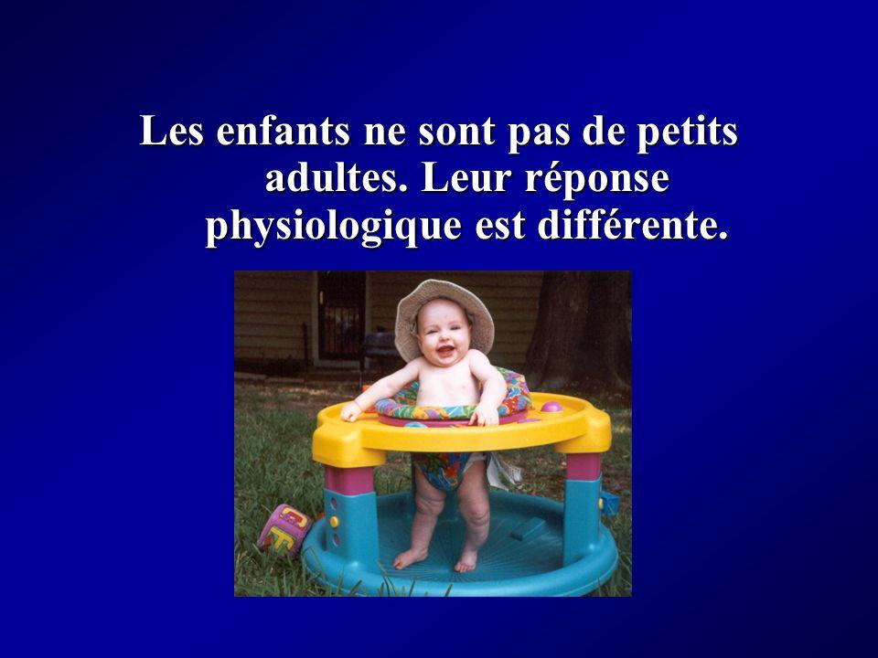 Les enfants ne sont pas de petits adultes. Leur réponse physiologique est différente.