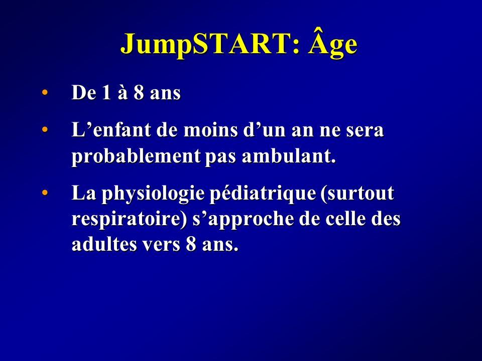 JumpSTART: Âge De 1 à 8 ansDe 1 à 8 ans Lenfant de moins dun an ne sera probablement pas ambulant.Lenfant de moins dun an ne sera probablement pas amb