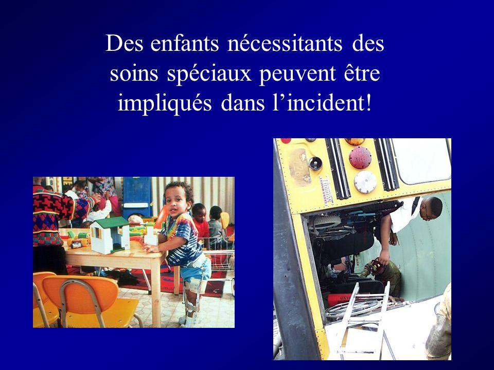 Des enfants nécessitants des soins spéciaux peuvent être impliqués dans lincident!