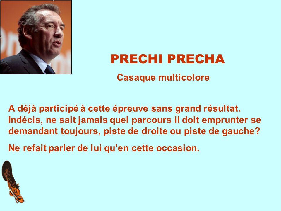 PRECHI PRECHA A déjà participé à cette épreuve sans grand résultat.
