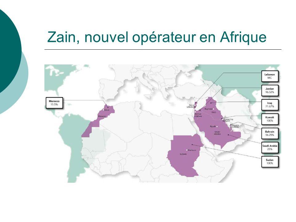 Zain, nouvel opérateur en Afrique