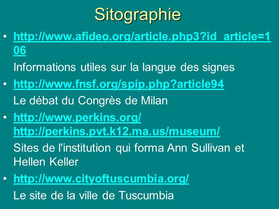 Sitographie http://www.afideo.org/article.php3?id_article=1 06http://www.afideo.org/article.php3?id_article=1 06 Informations utiles sur la langue des
