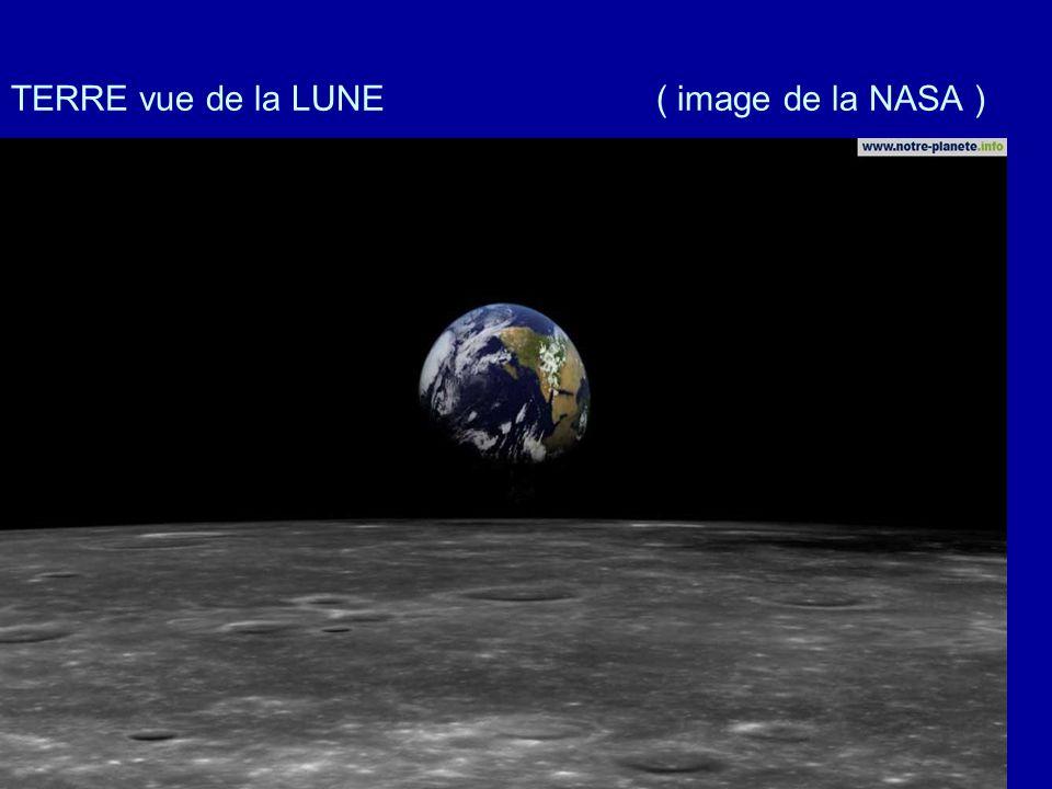 TERRE vue de la LUNE ( image de la NASA )
