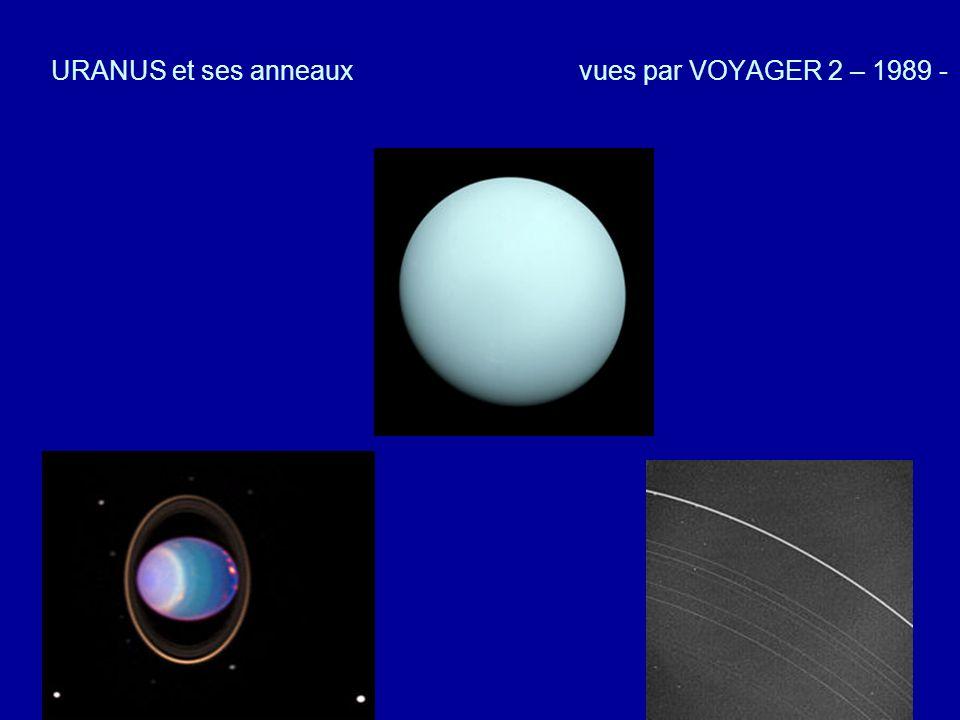 URANUS et ses anneaux vues par VOYAGER 2 – 1989 -