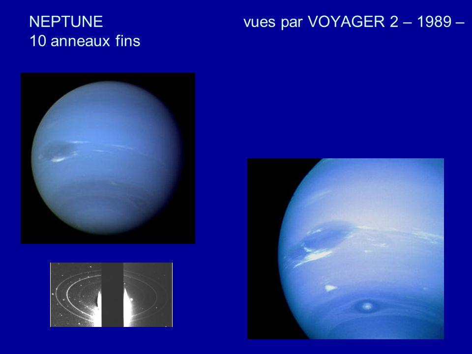 NEPTUNE vues par VOYAGER 2 – 1989 – 10 anneaux fins
