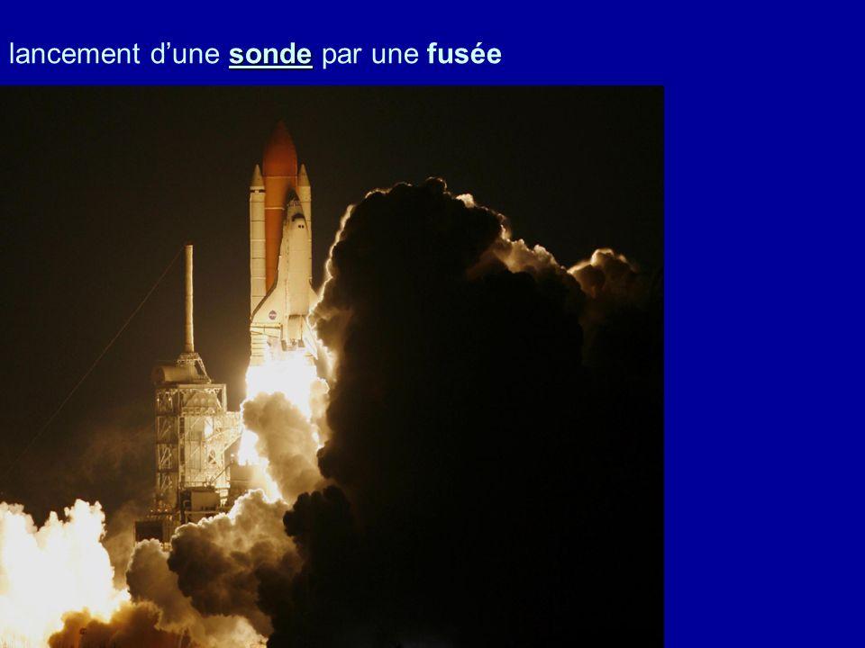 sonde lancement dune sonde par une fusée