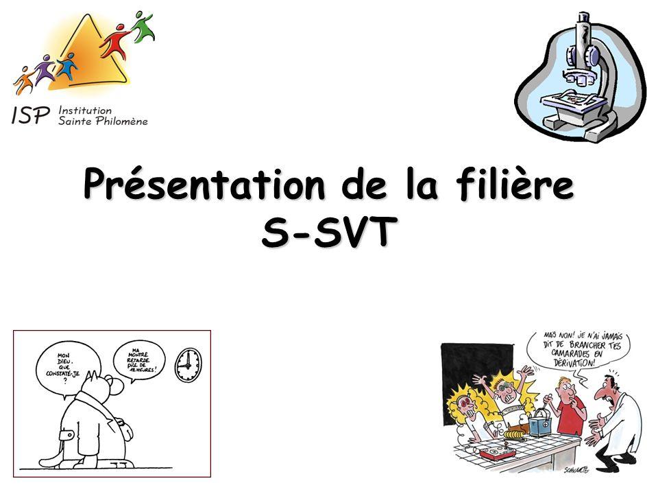 Présentation de la filière S-SVT