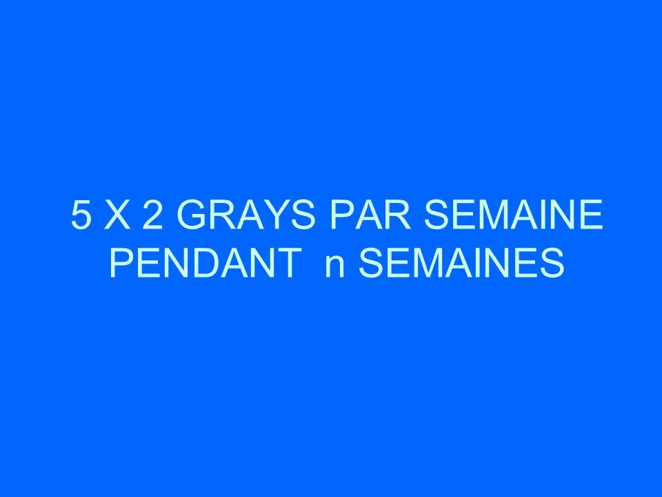 5 X 2 GRAYS PAR SEMAINE PENDANT n SEMAINES