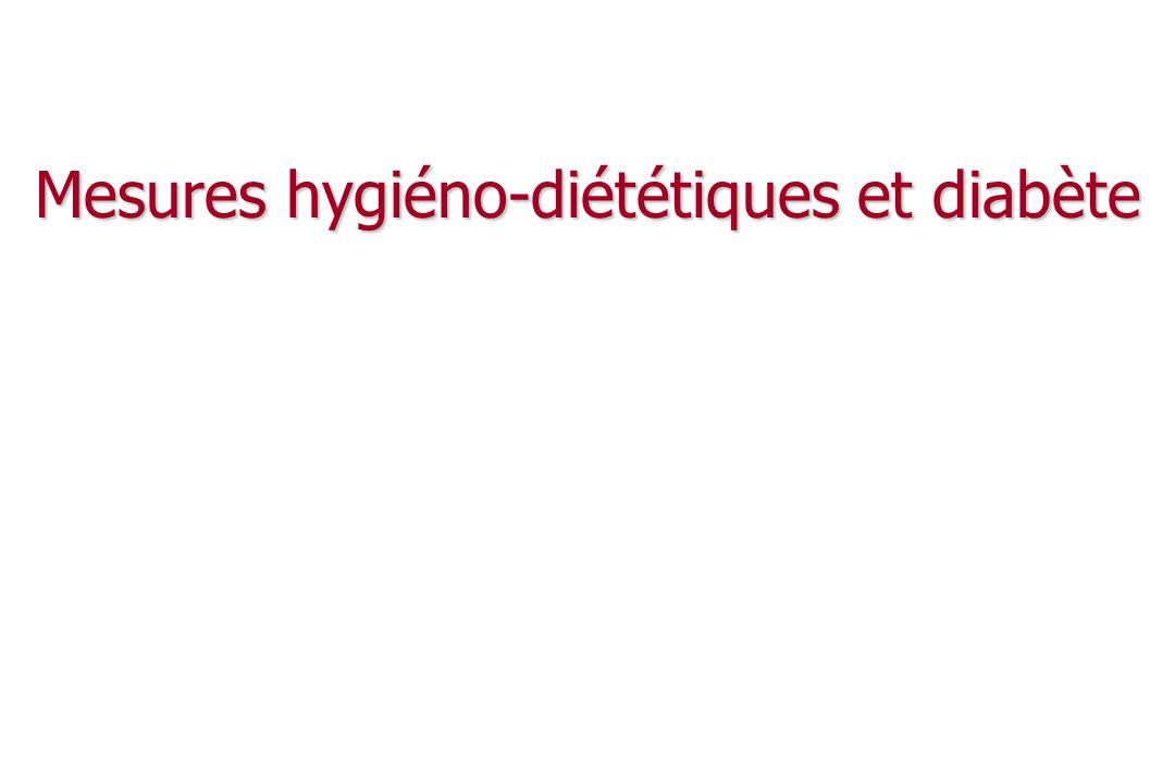 Les objectifs (1) Améliorer l équilibre glycémique : Améliorer l équilibre glycémique : modulation de l excursion glycémique post-prandiale modulation de l excursion glycémique post-prandiale lutter contre l insulino-résistance lutter contre l insulino-résistance lutter contre la surcharge pondérale lutter contre la surcharge pondérale Lutter contre les autres facteurs de risque CV : Lutter contre les autres facteurs de risque CV : HTA, dyslipidémies, … HTA, dyslipidémies, …
