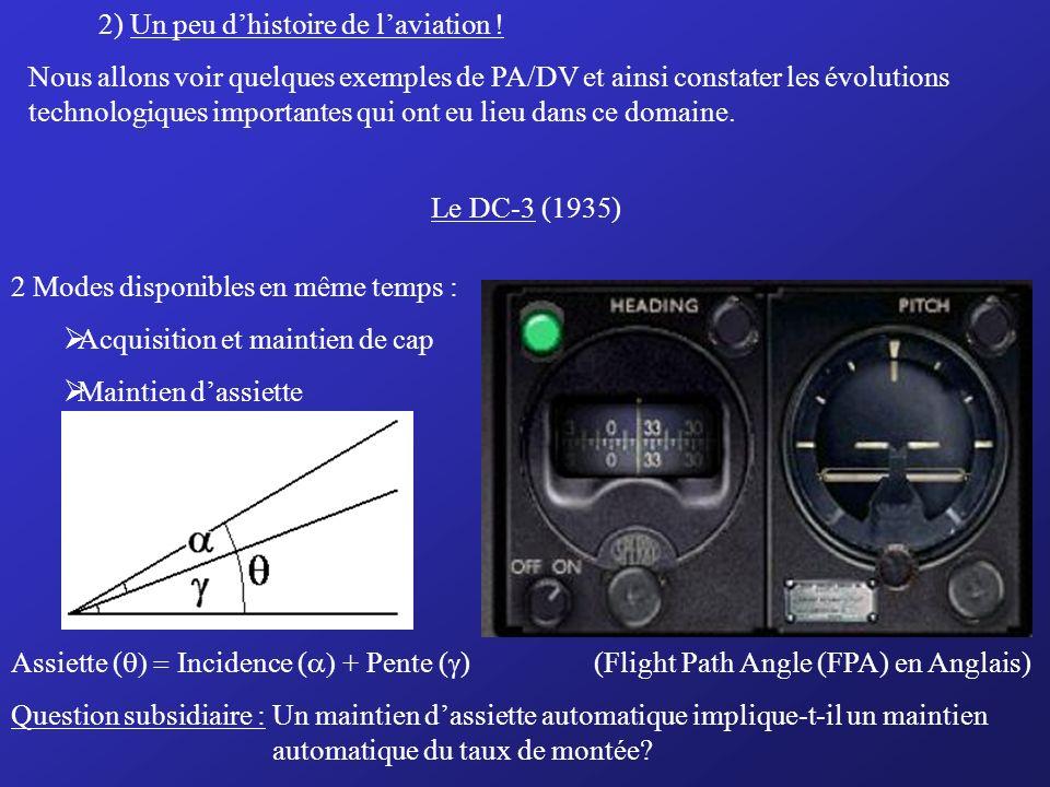 c) Pilotage automatique Système ACTIF -ADC -INS/IRS -Récepteurs Radio Nav Calculateur PA Servomoteur PA Gouvernes Essentiel à retenir : Le DV réduit l