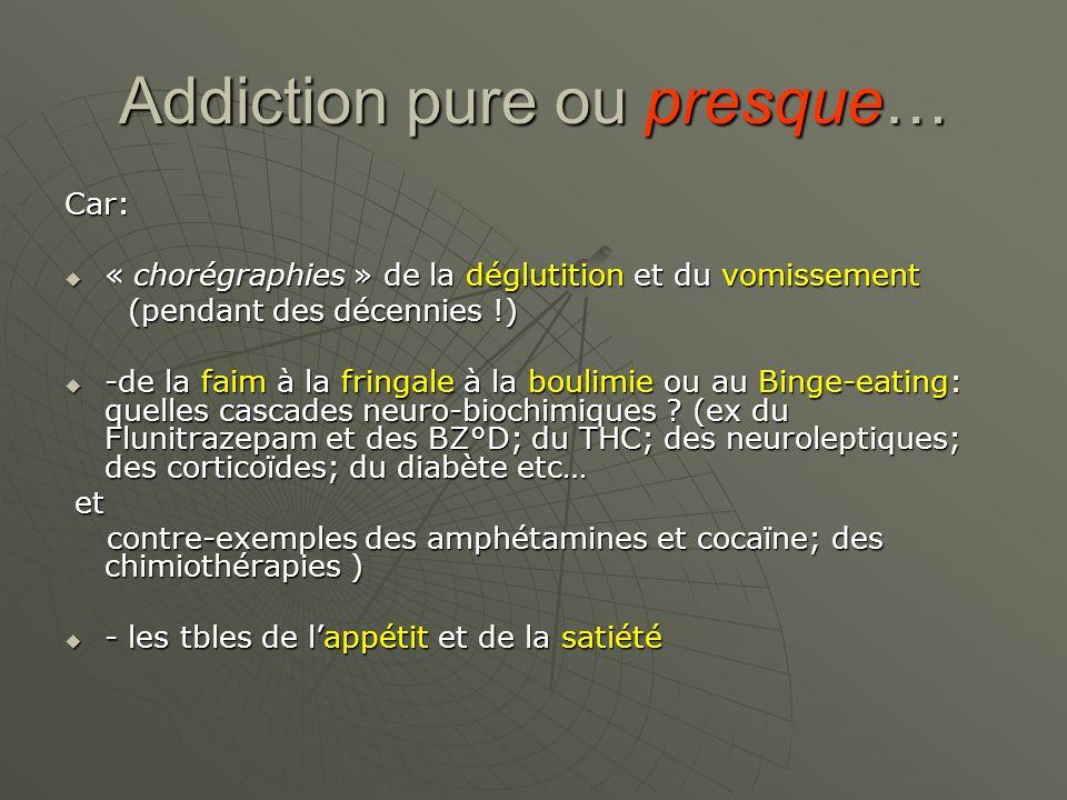 Addiction pure ou presque… Car: « chorégraphies » de la déglutition et du vomissement « chorégraphies » de la déglutition et du vomissement (pendant d