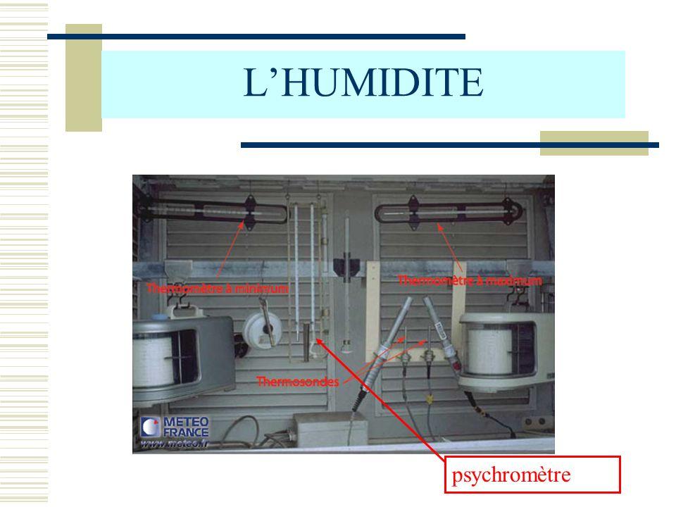 LHUMIDITE psychromètre