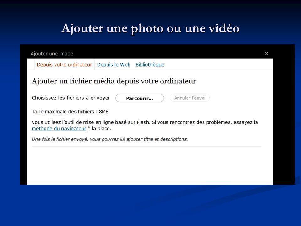Ajouter une photo ou une vidéo