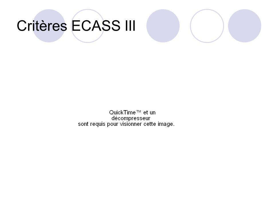 Critères ECASS III