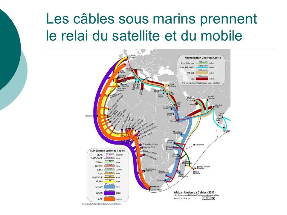 Les câbles sous marins prennent le relai du satellite et du mobile