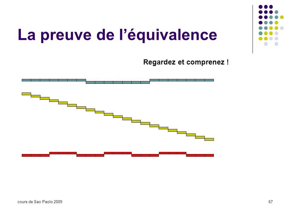 cours de Sao Paolo 200967 La preuve de léquivalence Regardez et comprenez !