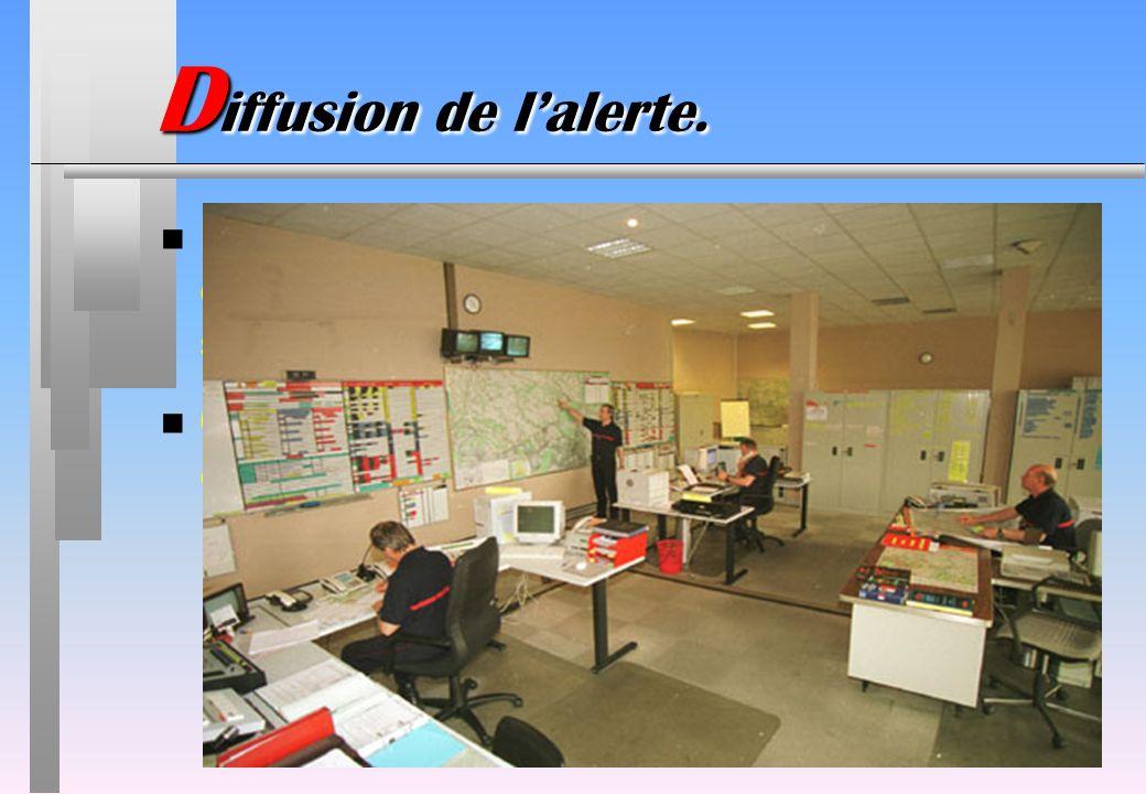 D iffusion de lalerte. n Lalerte est lancée par le témoin dun sinistre ou par le 1er intervenant dun service de secours. n Quelque soit la structure q