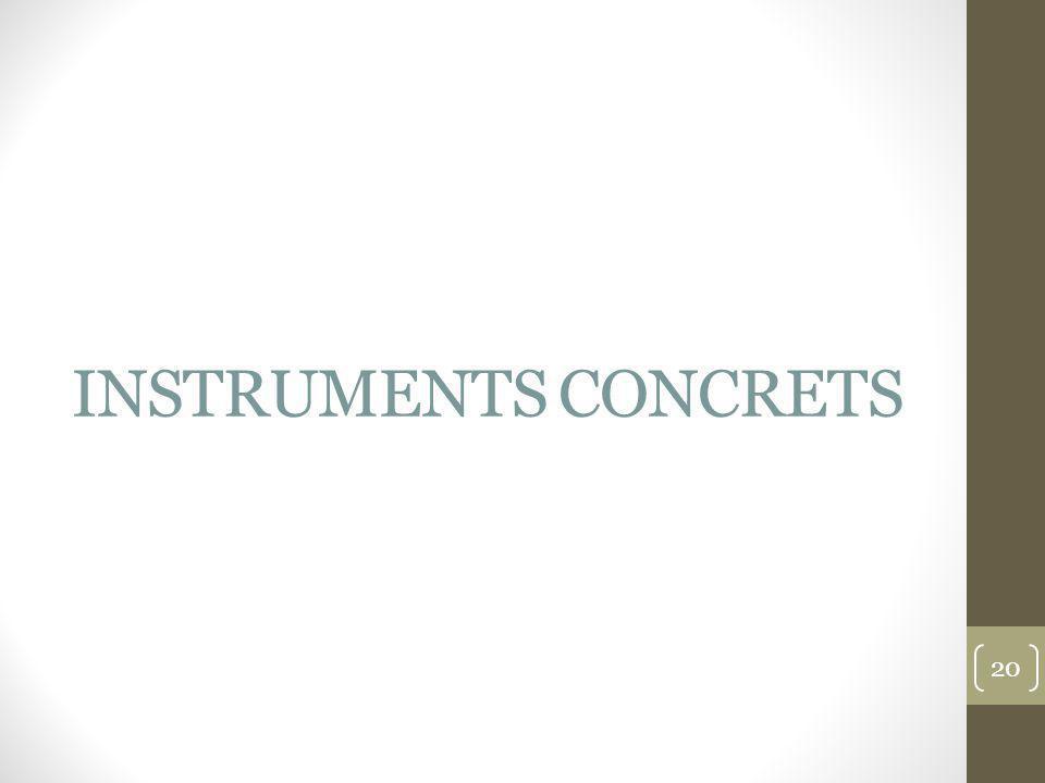 INSTRUMENTS CONCRETS 20