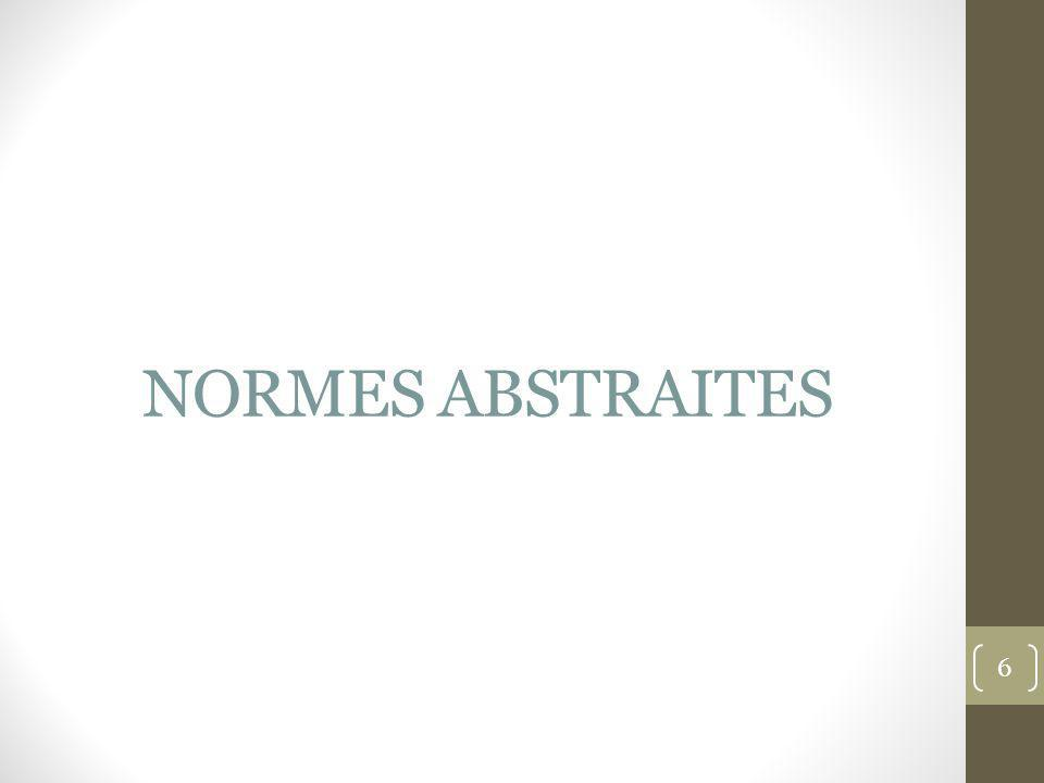 NORMES ABSTRAITES 6