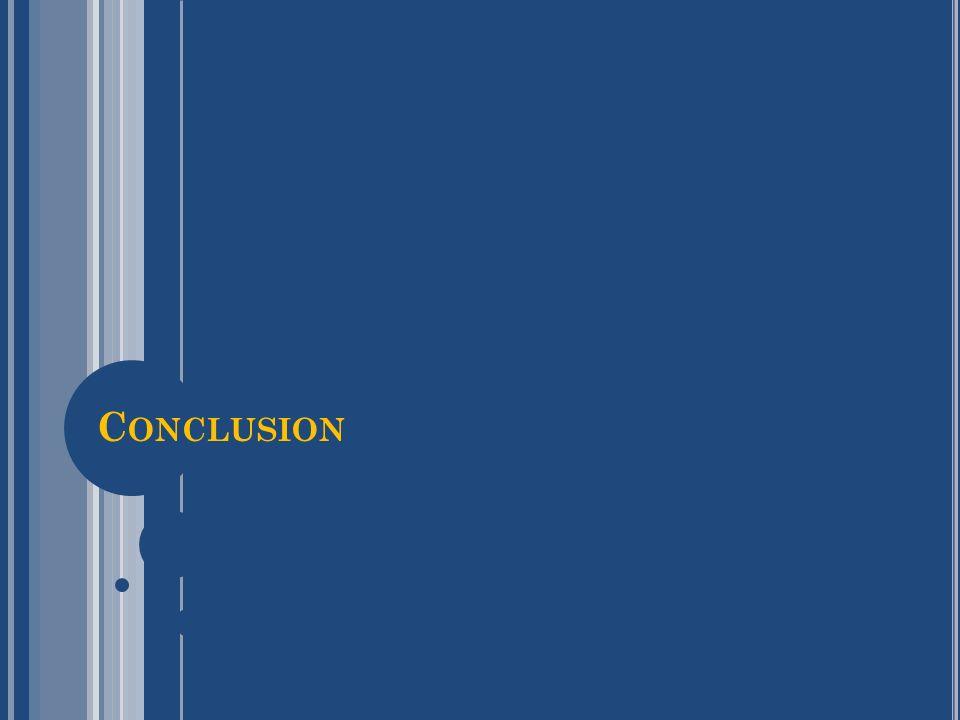 C ONCLUSION