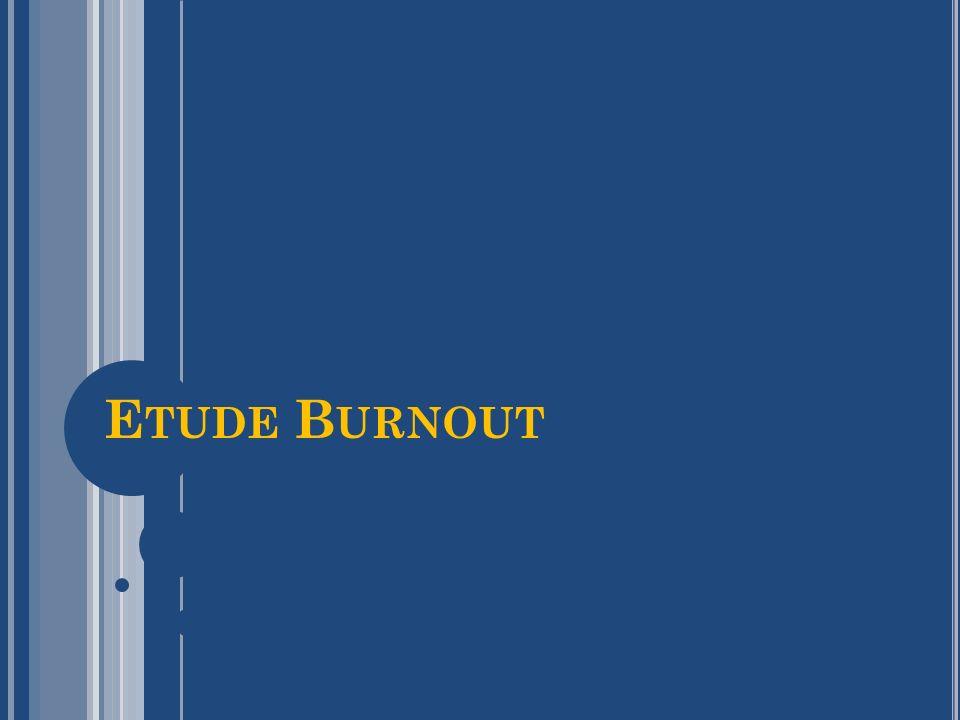O BJECTIFS Objectifs de cette étude nationale transversale de quantifier la fréquence du burn-out chez les internes de cancérologie, de déterminer des facteurs causaux potentiels, de déterminer des symptômes associés au burn-out qui pourraient être utilisés comme outils de dépistage.