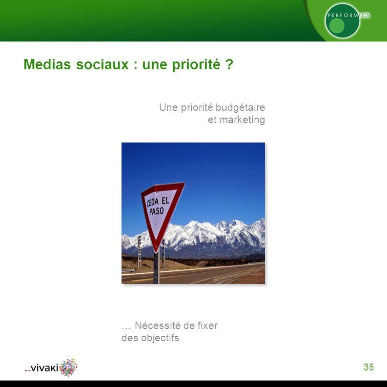 35 Medias sociaux : une priorité .