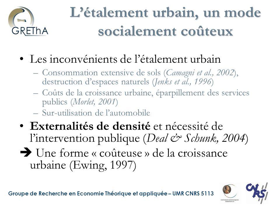 Groupe de Recherche en Economie Théorique et appliquée – UMR CNRS 5113 Source : Deymier, Gaschet, Pouyanne, 2008