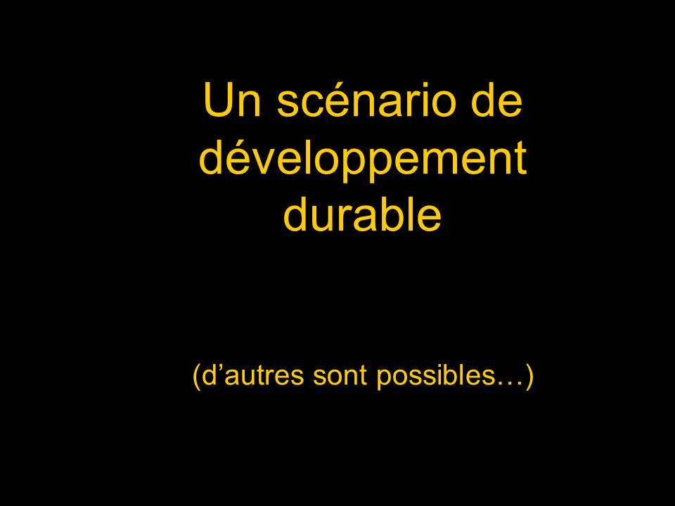 Un scénario de développement durable (dautres sont possibles…)
