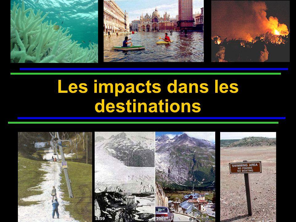 Les impacts dans les destinations