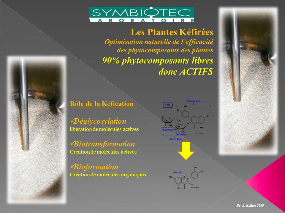 Les Plantes Kéfirées Optimisation naturelle de lefficacité des phytocomposants des plantes 90% phytocomposants libres donc ACTIFS Rôle de la Kéficatio