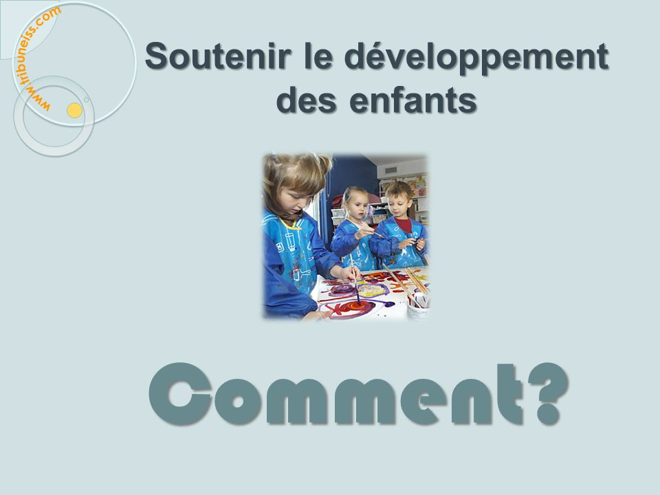 Modèle d'évaluation de l'environnement pour le développement de la petite enfance (TEAM-ECD) Figure 1 – Schéma du développement précoce de lenfant (DP