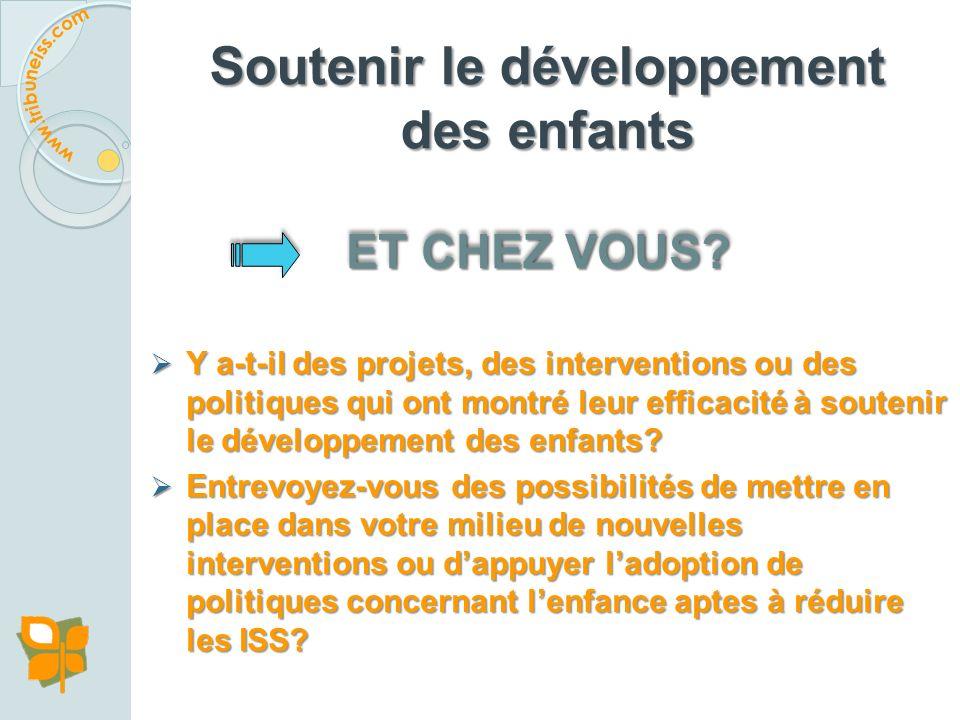 Exemple 5 : Une politique en action sur le DJE, Suède Les trois principaux programmes destinés aux enfants dâge préscolaire ainsi quà leurs parents re